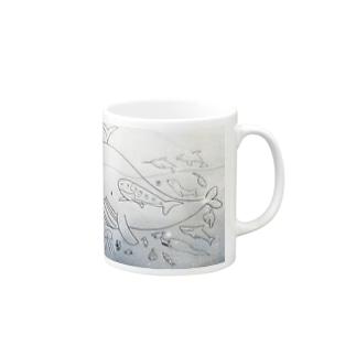 海のなかまたち Mugs