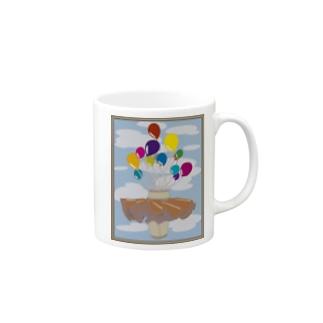 風船とスカート Mugs