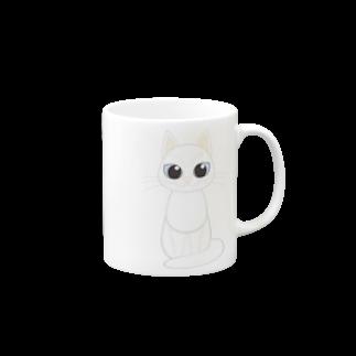 Tar-zansuの白猫 マグカップ