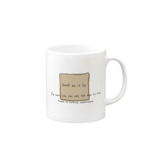 命あるだけで丸儲け Mugs