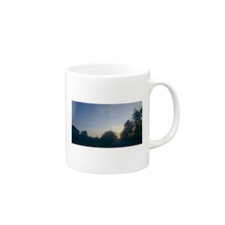 飛行機雲in田舎 Mugs