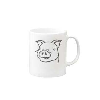 豚野郎 Mugs