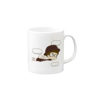 カーテンマンJr.(ピューン)のマグカップ Mugs