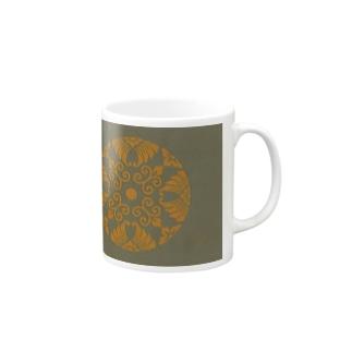 臥蝶とか浮線綾などと呼ばれる紋様のグッズ(承香院) Mugs