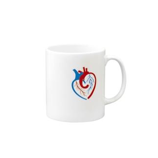 ハートの心臓 Mugs