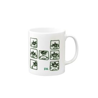 コマわりぱすけくん(グリーン) Mugs