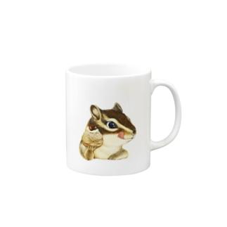 リス×モンブラン Mugs
