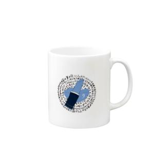 青いリップスティック Mugs