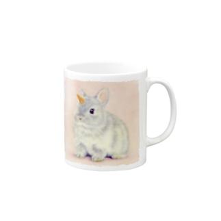 萌獣 猫 ユニピョーン (兎に角:つのうさぎ) Mugs