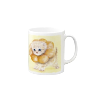 萌獣 猫 ポンデニャイオン Mugs