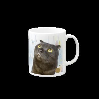 Cat Cafe ねころびの雨に唄えば♪ Mugs