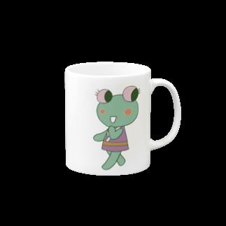 ガウ子ショップのケロケロ!イデ・カエル マグカップ