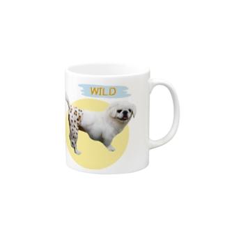俊足の犬 マグカップ