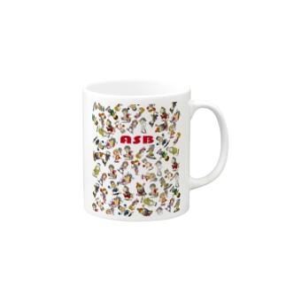 ASBスタッフキャラクターアイテム(白) Mugs