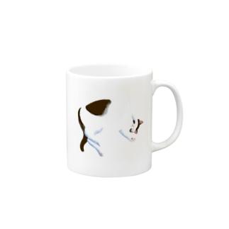 昼寝中(黒) Mug