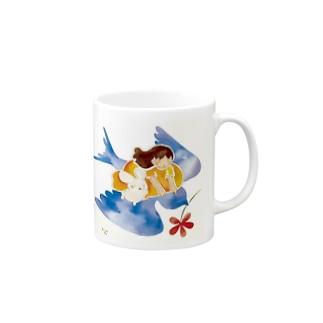 青い鳥 Mugs