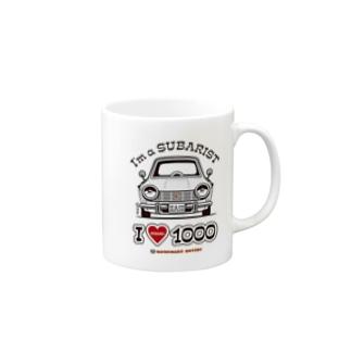 I LOVE SUBARU1000 Mugs