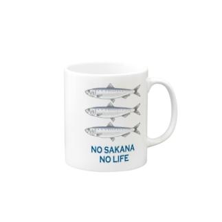 ノー魚 ノーライフ Mugs