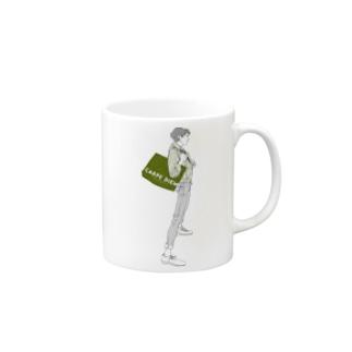 """""""Green"""" いけめんファッショニスタ Mugs"""