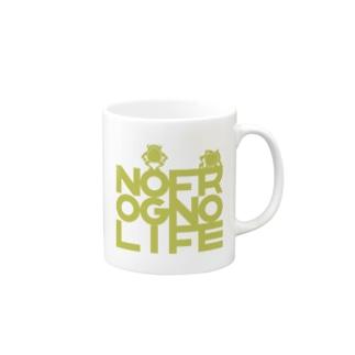 ♪NO FROG NO LIFE(モリアオグリーン)♪ Mugs