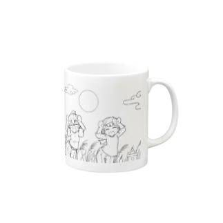 【アクシズ】十五夜ダンセン!(線画) Mugs