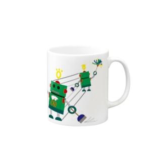 おしかけロボ(おしかけ清掃中) Mugs