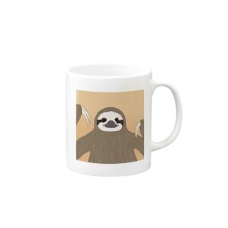 ラクガキナマケモノ Mugs