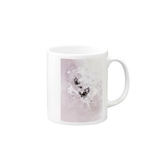 書家/甘雨 墨象[黒揚羽] Mugs