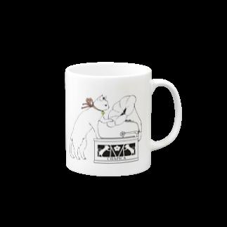 Rosemary*Teaの猫と蓄音機 Mugs