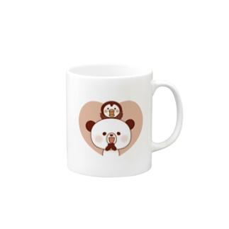 ぽんやんとパフィ(ハート) Mugs