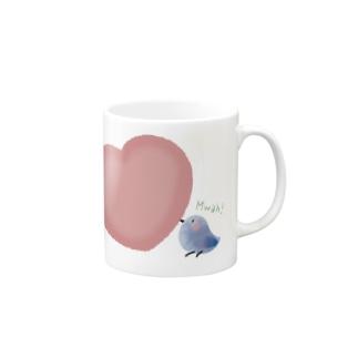 【愛を運ぶ】アオイトリ Mugs
