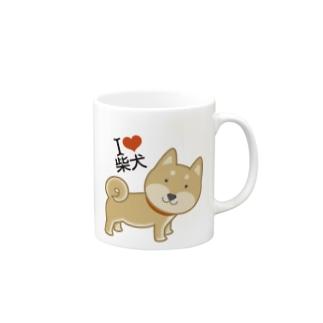 I ♥ 柴犬 Mugs