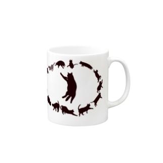 猫影無限猫目 マグカップ