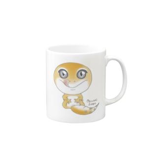 おすわりレオパ(スーパーハイタン系) Mugs
