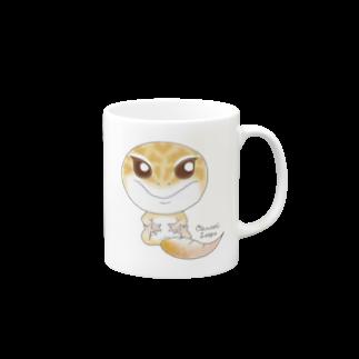 Zipply × Hachucliのおすわりレオパ(ラプター系) Mugs