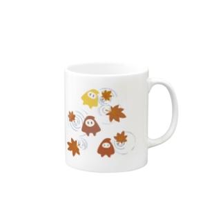 秋の気配に泳ぐ幸せの小人さん Mugs