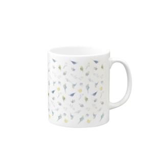 いっぱいセキセイインコちゃん【まめるりはことり】 Mugs