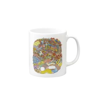 グログロのカラフル Mugs