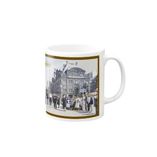 CG絵画:アムステルダムの風景画 CG art: view of Amsterdam Mugs