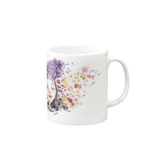 癒しと幸せの占い師・ちぃのお店の恋する乙女 Mugs