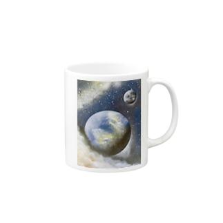 スプレーアート❣️地球🌏 オシムラ作品 Mugs