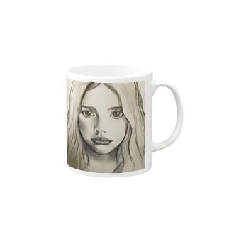 クロエ・モレッツの似顔絵 Mugs