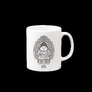 PygmyCat suzuri店の仏にゃん マグカップ
