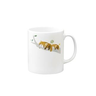 レッサーパンダの脱力ゆるゆる人生 Mugs