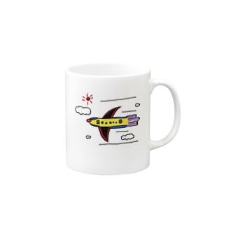 スペースヒコーキ Mugs