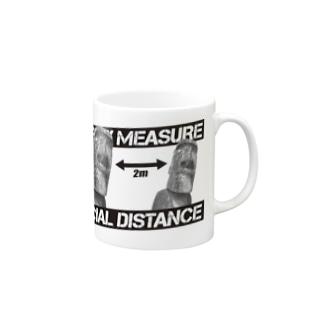 ソーシャルディスタンス(モアイ) Mugs