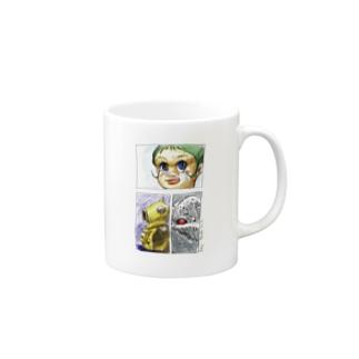 ヤノベケンジ《サン・チャイルド》(コマ割りカラー) マグカップ