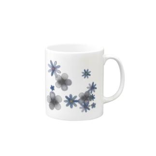花*モノクロ♪ Mugs