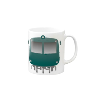 玉電 500系 初代青ガエル ビッグ Mugs