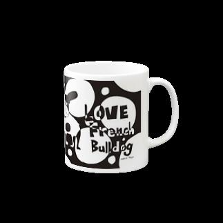 androgyneのLOVE FRENCH-BULLDOG Mugs